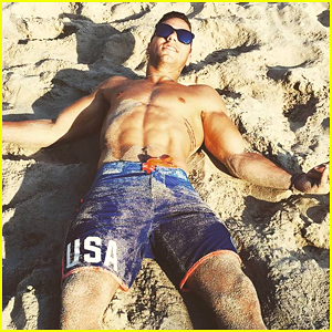 Gymnast Jake Dalton Celebrates 25th Birthday at the Beach in Rio