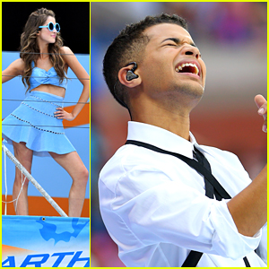 Jordan Fisher Hits All The High Notes at Arthur Ashe Kids Day 2016