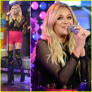 Kelsea Ballerini Wears Glittered Boots on 'Good Morning America' After Hosting Pop-Up Benefit in Nashville