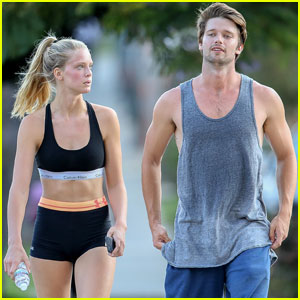 Patrick Schwarzenegger Works Up a Sweat While Boxing With Abby Champion