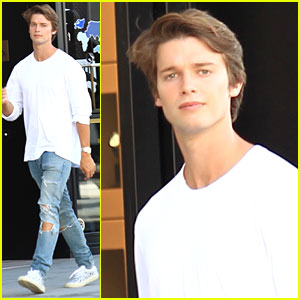 Patrick Schwarzenegger Poses with His Pup for National Dog Day