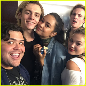 Harvey Guillen & More 'Status Update' Stars Support Ross Lynch at 'A Chorus Line'!