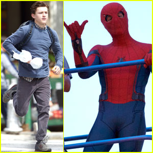 Tom Holland Gets Silly on the Set of 'Spider-Man: Homecoming'