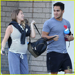Alexa PenaVega Shows Off Growing Baby Bump at the Gym With Carlos!