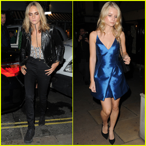 Cara Delevingne & Lottie Moss Hit Up 'Love Magazine' Party