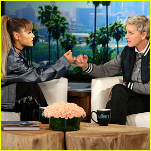 Ariana Grande Tries to Avoid Mac Miller Talk on 'Ellen'