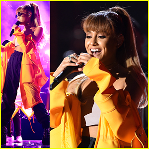Ariana Grande Lights Up The iHeartRadio Music Festival with Zedd & Hailee Steinfeld