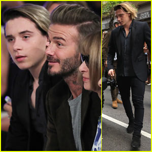Brooklyn Beckham Supports Mom Victoria at New York Fashion Week