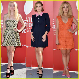 Dakota Fanning Attends Venice Film Festival Photo Call With Zoey Deutch