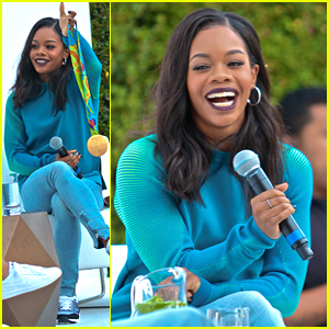 Gabby Douglas Meets Fans at Nike Store After Suffering Allergic Reaction
