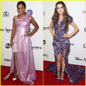Gabby Douglas & Laura Marano Judge Miss America Competition!