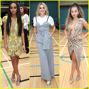 Leigh-Anne Pinnock Hits Julien MacDonald Show During LFW with Hailey Baldwin
