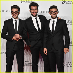 Il Volo Sing With Novak Djokovic at Tennis Meets Fashion Event in Milan