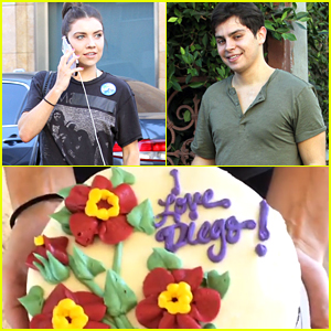 Jenna Johnson Brings Jake T. Austin A 'Diego' Cake For DWTS Practice