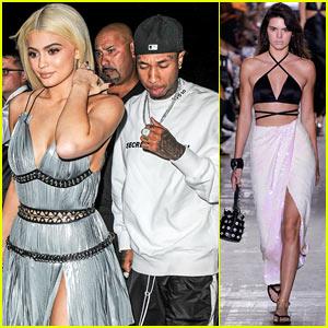 Kylie Jenner & Tyga Support Kendall Jenner at Alexander Wang NYFW Runway Show