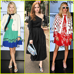 Lottie Moss Hits Fendi Fashion Show in Milan with Ellie Bamber