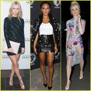 Lottie Moss, Serayah, & Pixie Lott Hit Up London Fashion Week Shows!