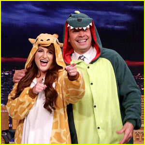 Meghan Trainor & Jimmy Fallon Rock Onesies on 'The Tonight Show' - Watch!