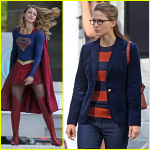 Melissa Benoist Hits the Street Filming 'Supergirl'!
