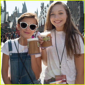 millie bobby brown and maddie ziegler. millie bobby brown \u0026 maddie ziegler try butterbeer at the wizarding world of harry potter! and