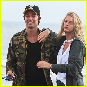 Patrick Schwarzenegger & Abby Champion Enjoy the Sunset in Malibu!