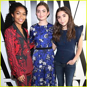 Rowan Blanchard, Yara Shahidi & Emily Robinson Speak at Vanity Fair's Social Club