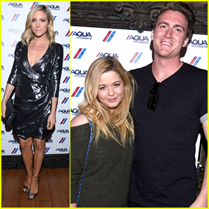 Sasha Pieterse & Fiance Hudson Sheaffer Couple Up For Drake Concert in LA