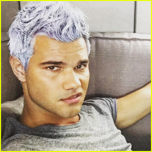 Taylor Lautner Is Sporting New Lavender Hair!