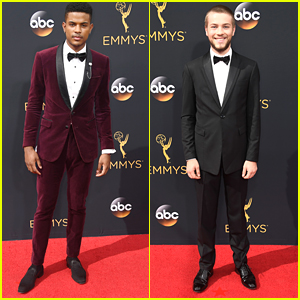 Trevor Jackson & Connor Jessup Rep 'American Crime' at Emmy Awards 2016