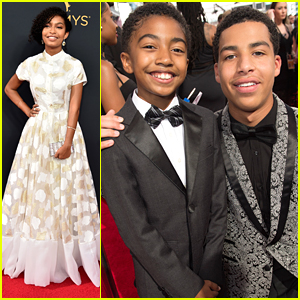 'black-ish's Yara Shahidi Hits Emmy Awards with Miles Brown & Marcus Scribner