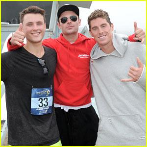 Zac Efron & Little Bro Dylan Compete in Nautica Malibu Triathlon