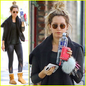 Ashley Tisdale Kicks Off Her Week With a Yoga Session!