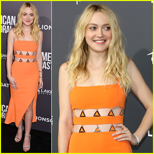 Hey Dakota Fanning, Orange You Glad You Wore That Chic Dress?!