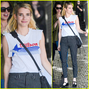 Emma Roberts Stylishly Arrives at the CFDA/Vogue Party!