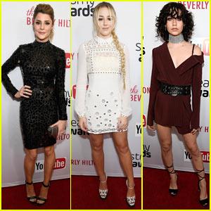 Grace Helbig, Chloe Lukasiak, & Amanda Steele Rock Mini-Dresses for 2016 Streamy Awards!