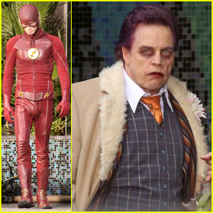Grant Gustin Shoots 'The Flash' Scenes With Mark Hamill