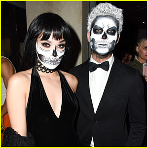 Hailee Steinfeld Coordinates Skull Makeup with Cameron Smoller at JJ's Halloween Party