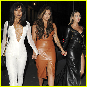 Perrie Edwards & Jesy Nelson Celebrate Leigh-Anne Pinnock's 25th Birthday in London