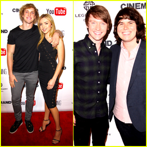 Peyton List & Logan Paul Host 'The Thinning' Cast Screening (Exclusive Pics)