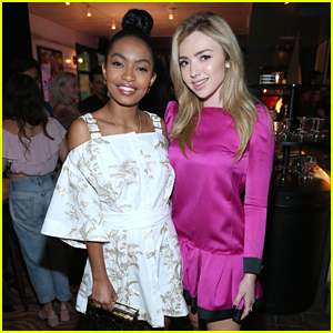 Peyton List Celebrates 'The Thinning' Release with Yara Shahidi in LA