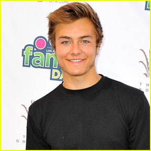 Peyton Meyer Sports Facial Hair at T.J. Martell Foundation's L.A. Family Day