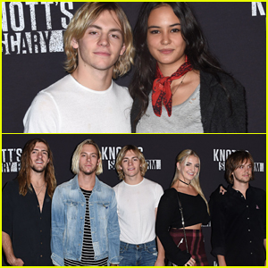 Ross Lynch Reunites With R5 & Courtney Eaton For Knott's Scary Farm