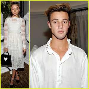 Sarah Hyland & Cameron Dallas Help Burberry Honor Felicity Jones