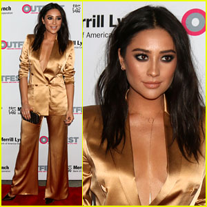Shay Mitchell Presents Freeform with Corporate Trailblazer Award!