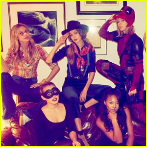 Taylor Swift, Camila Cabello & Gigi Hadid Celebrate Halloween With Their Squad