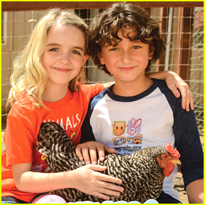 August Maturo & BFF McKenna Grace Visit Farm Sanctuary with PETA Kids