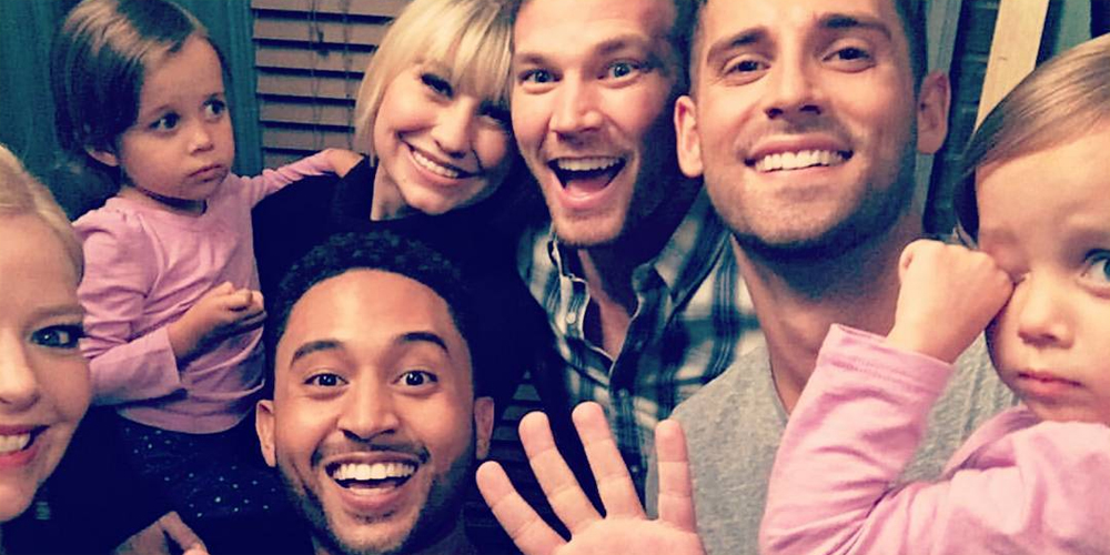 baby daddy starts shooting season 6 see all the cast pics baby