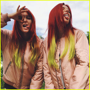 Bella Thorne Just Dyed Her Hair Red & Yellow!