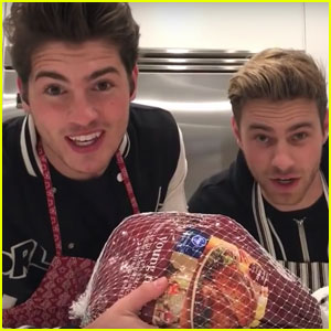 VIDEO: Gregg Sulkin & Cameron Fuller Attempt to Cook Thanksgiving Dinner