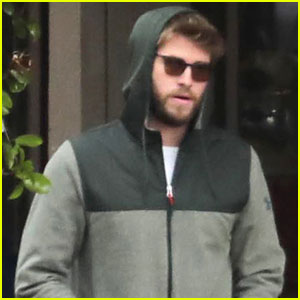 Liam Hemsworth Covers Up While Out in Point Dume